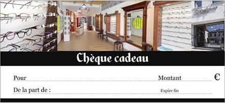 Opticien - Lunettes - La Louvière - Houdeng - Opticalement Votre - Cheque cadeau