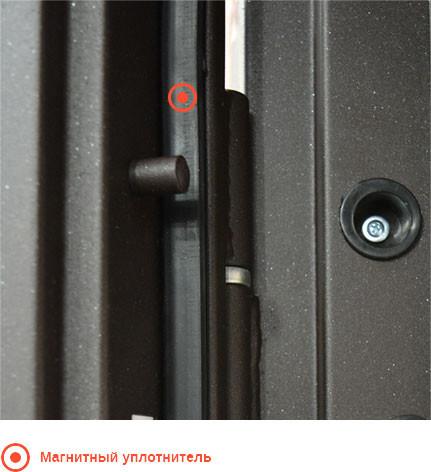 Входные двери с магнитным уплотнителем