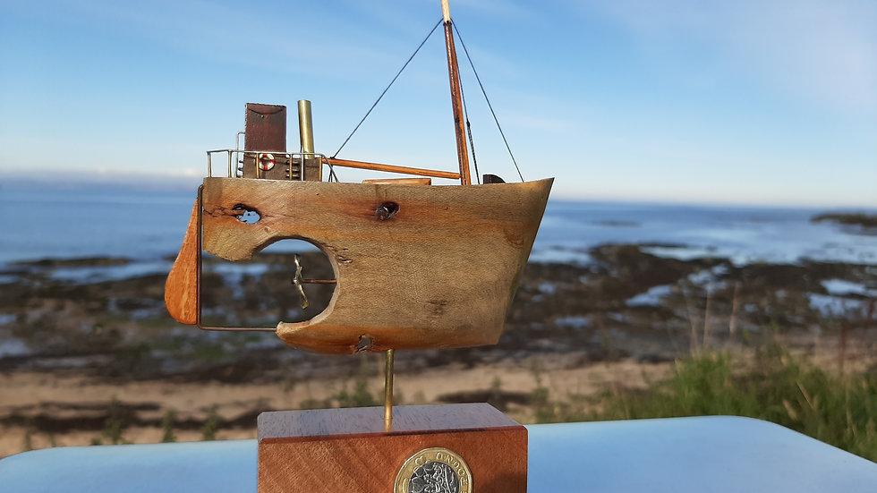 Clyde Puffer hand made from driftwood No1