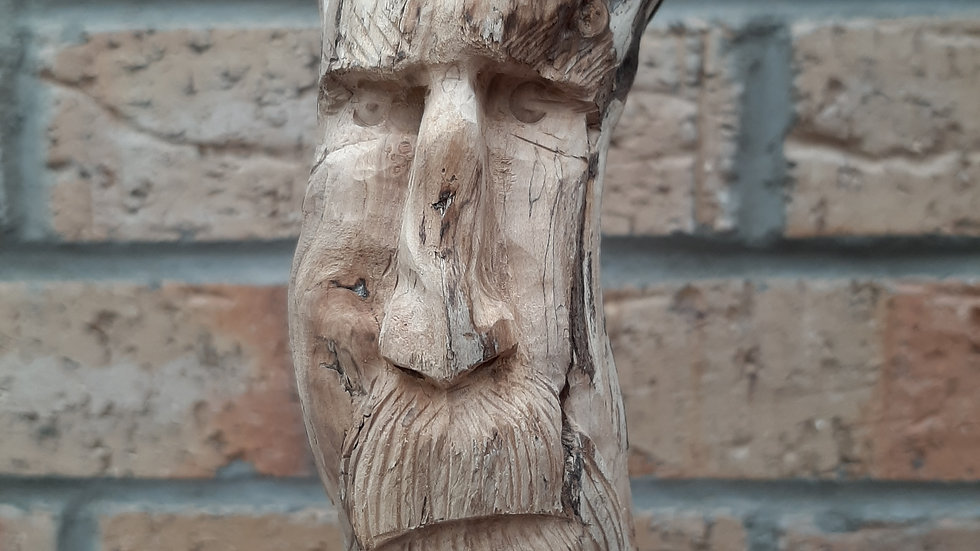 Seaman sculpture hand carved from driftwood No2