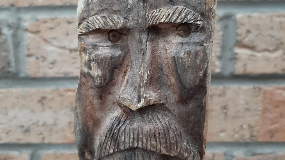 Seaman sculpture hand carved from driftwood No1