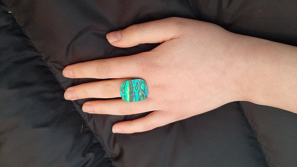 Paua shell adjustable rings
