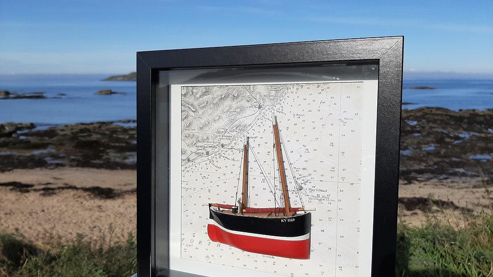 Fifie Herring Sailling Drifter KY1169 Black Prince, Cellardyke, Fyfe.
