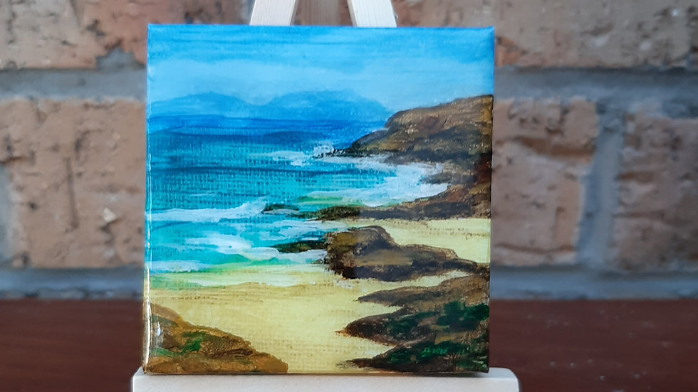 Small painting Taransay beach