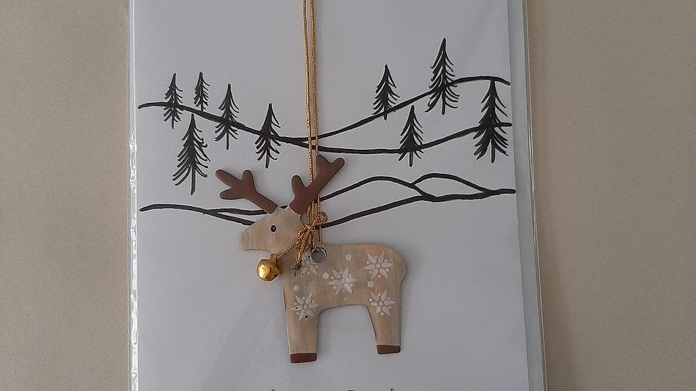 Reindeer card/decoration