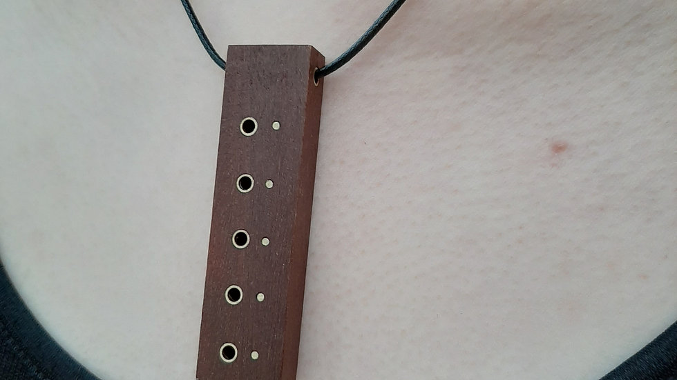 Hardwood and Brass necklace