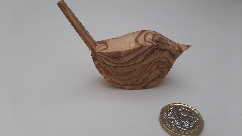 Olive wood bird