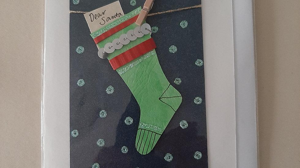 Christmas stocking cards.