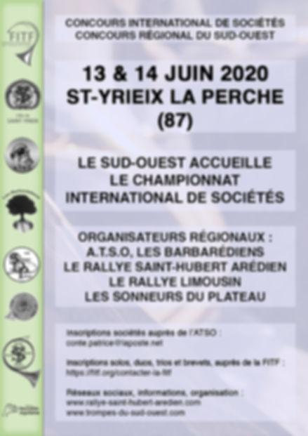 Festival International de Sociétés - les 13 & 14 Juin 2020