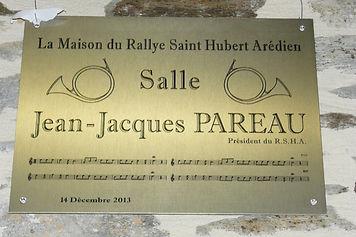 Plaque de la Salle Jean-Jacques Pareau