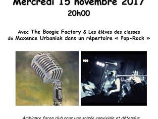 """Soirée musicale """"façon Club"""" au Carré des Arts..."""