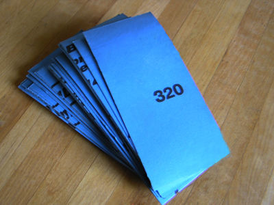 LTBL  #320 Sandpaper  (50- 2 inch x 5.5 inch strips)