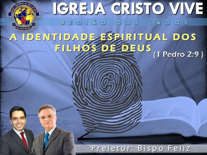 Venha conhecer a sua verdadeira identidade espiritual neste Domingo 11/12/2016