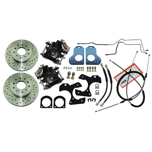 82-92 Camaro/Firebird Rear Disc Conversion kit w/ Cables