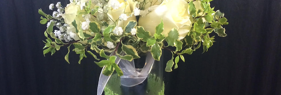 Simply Six -Bridal Bouquet of 6 (half Dozen) Roses