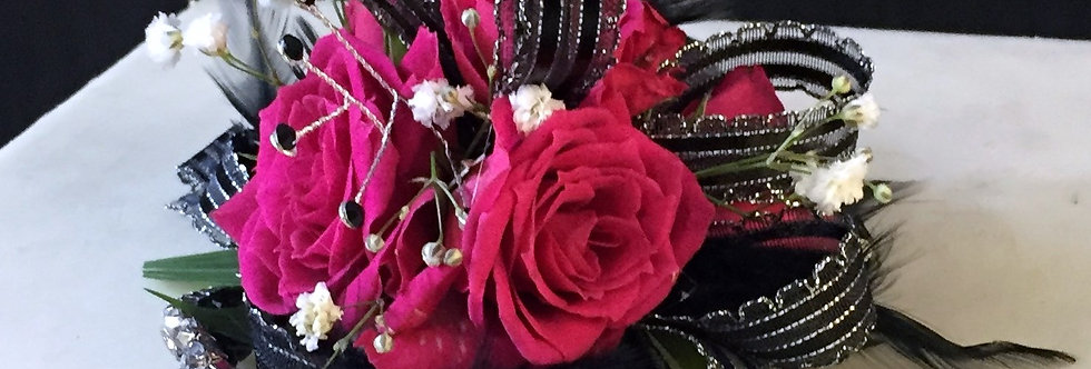 Black Ribbon Corsage