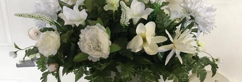 White Delight Silk Saddle