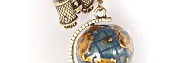 Vintage Globe Necklace