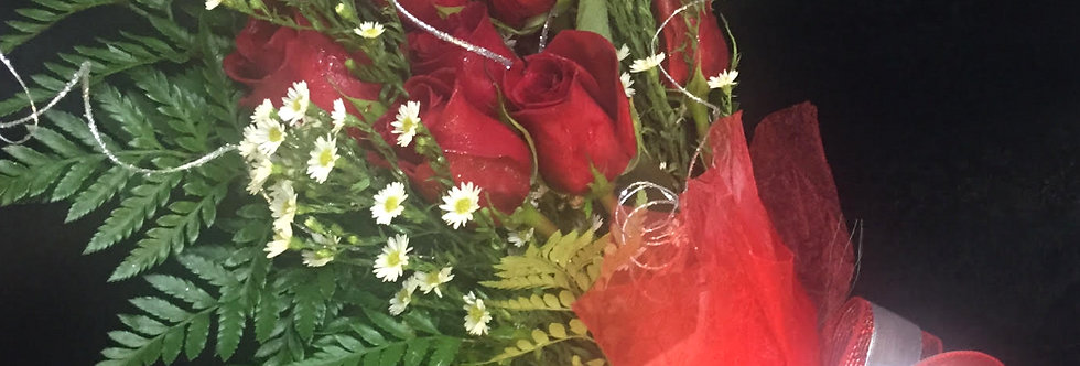 Crimson Red Dozen Wrapped