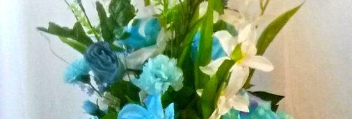 Blissfully Blue Bayou Silk Arrangement