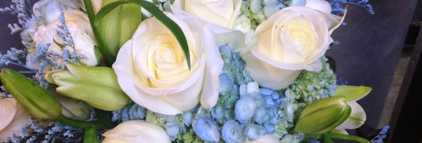 Laura's Blissfully Blue Bridal Bouquet
