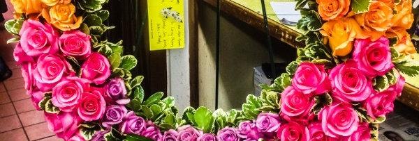 Rainbow Rose Wreath
