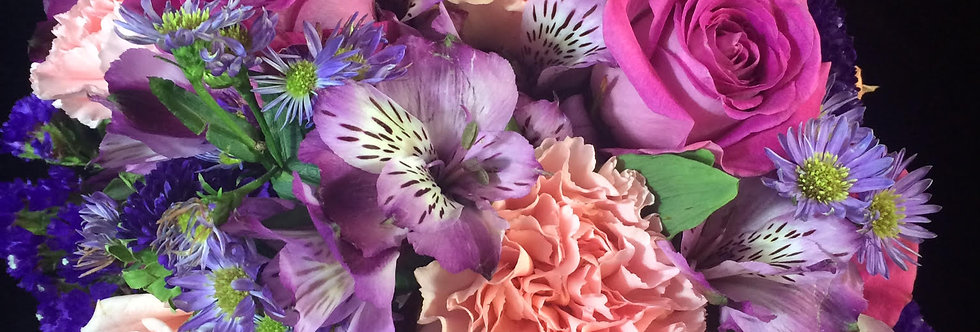 Burst of Color Bridal Bouquet