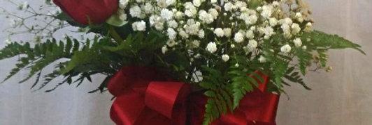 Candy Cane Rose Bouquet