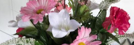 Pink Memorial Silk Vase
