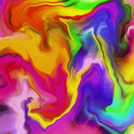 abstract art of the pride flag colors melding together in waves to represent the LGBT+ or LGBTQIA+ community