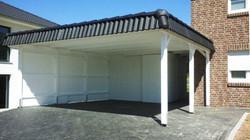 Carport mit Pfannenblende CLASSIC in weiß FREESE Holz