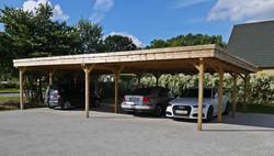 Carport 4 Stellplätze Reihenanlage FREESE Holz
