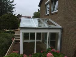 Überdachung Terrasse Glas Holz