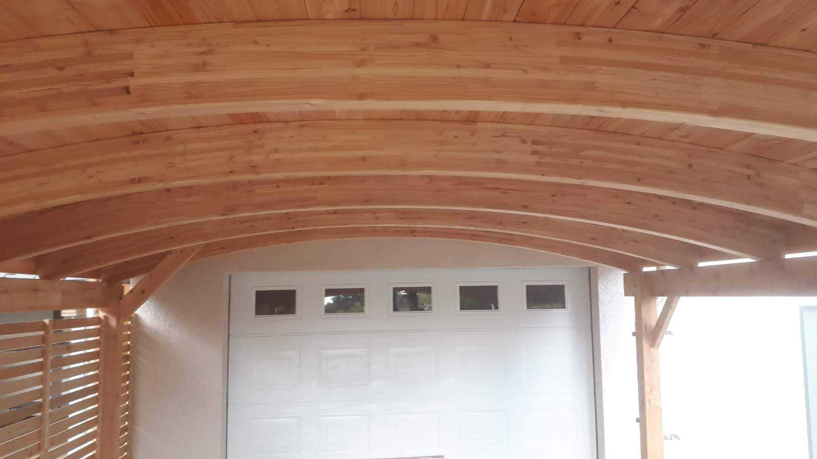 Dach Carport Bogendach FREESE Holz