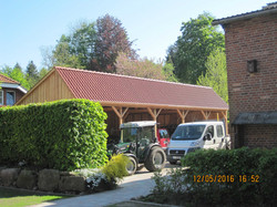 Satteldach Scheune Carport