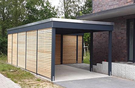 Carport modern KLARE LINIE Kiel Lärche Rhombus FREESE Holz