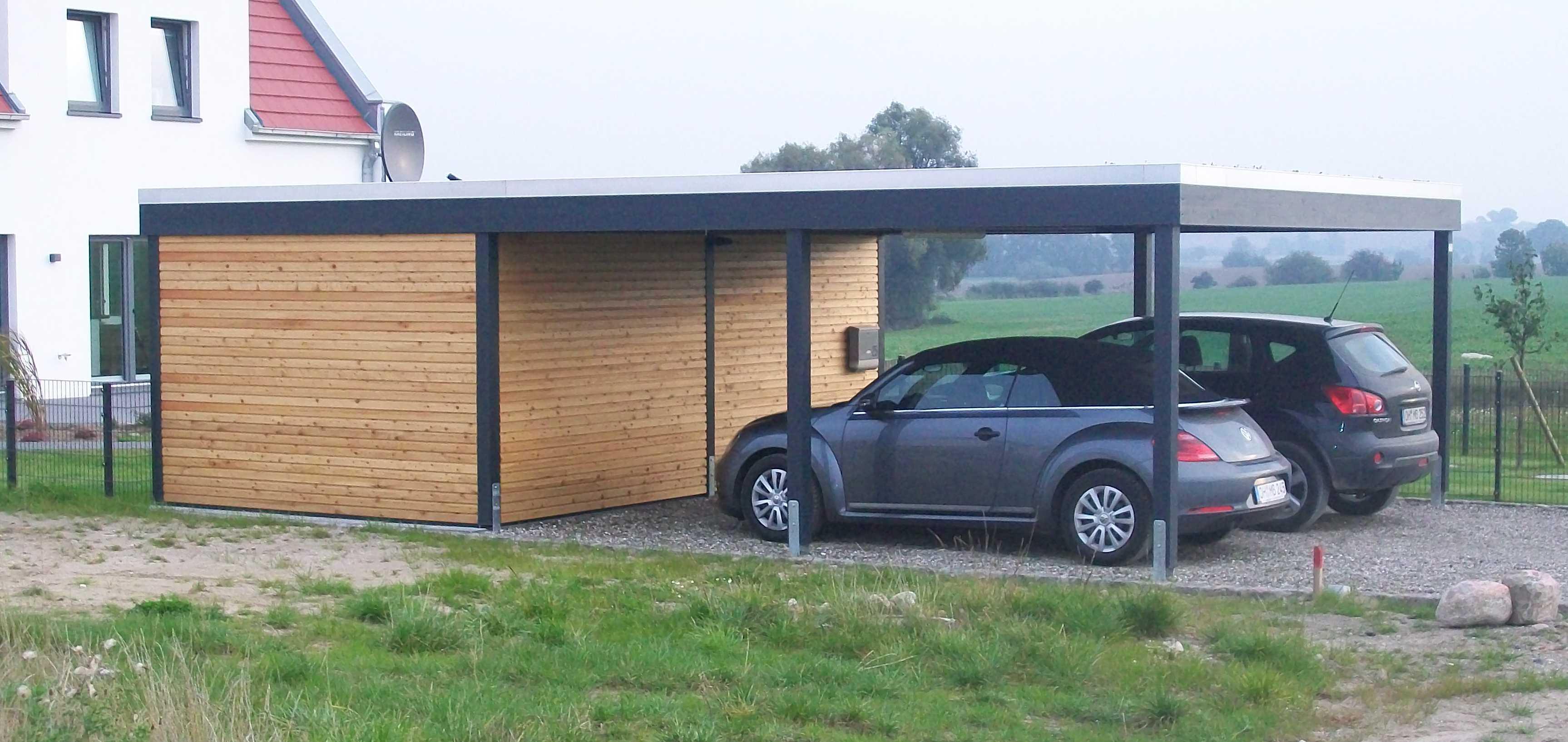 Carport modern design Doppelcarport
