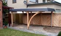 Bausatz Carport mit Schieferblende Lärche maßgefertigt und individuell