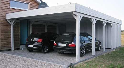 Carport Deckelschalung grau FREESE Holz.
