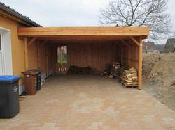 Doppelcarport Holz massiv aus Lärche
