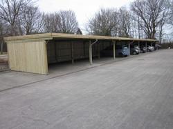Carport Reihenanlage KDI mit Flachdach