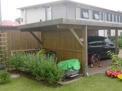 Carport mit Dachüberstand für Fahrradanhänger Kiel