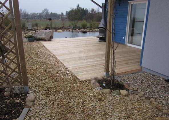 Terrasse aus sib. Lärchenholz