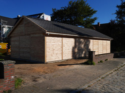 Holzfassade Rhombusprofil