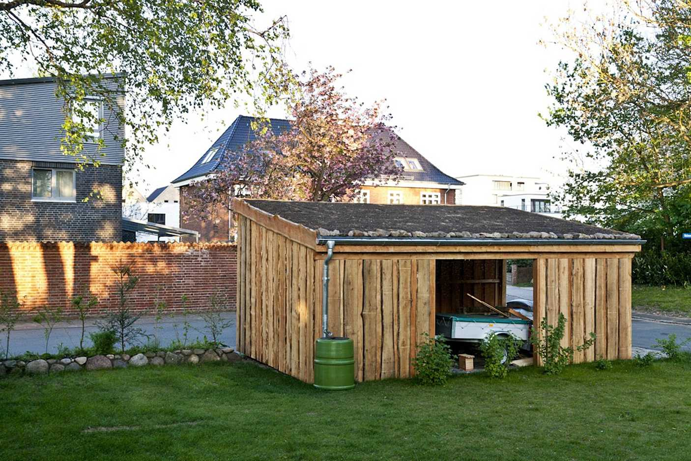 Carport Gründach Natur FREESE Holz
