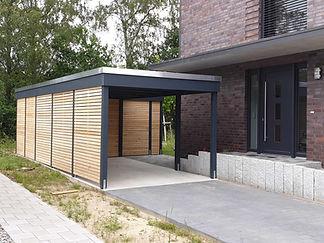 Carport modern Baugenehmigung FREESE Holz