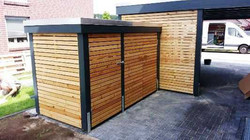 Mülltonnenbox Lärche maßgefertigt modern FREESE Holz