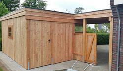 Carport mit Abstellraum Holz