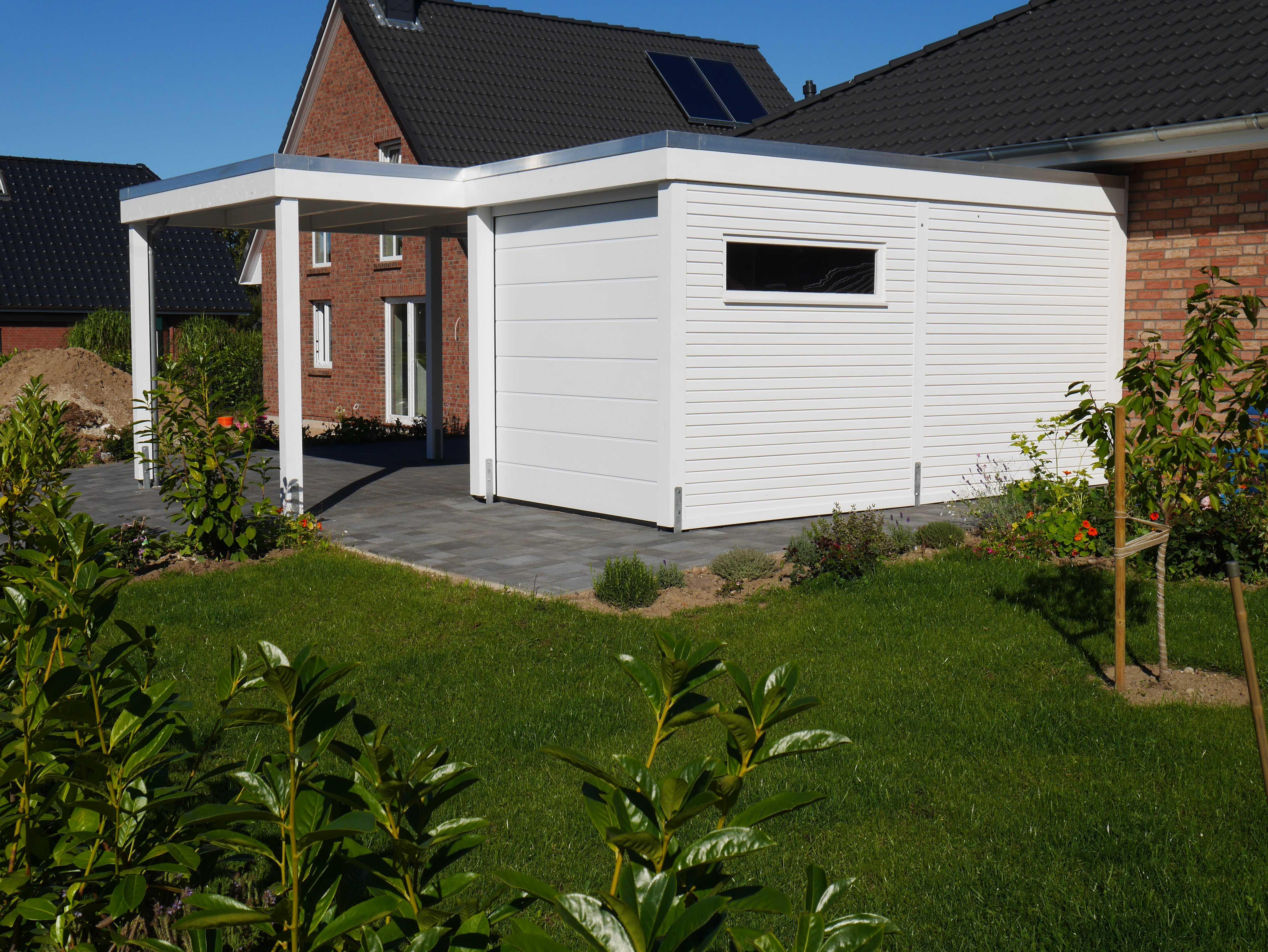 Architektencarport mit Abstellraum Garag