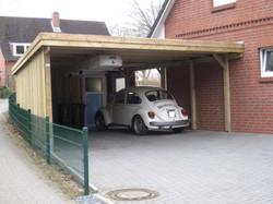 Doppelcarport KDI mit Wandanschluss Holz